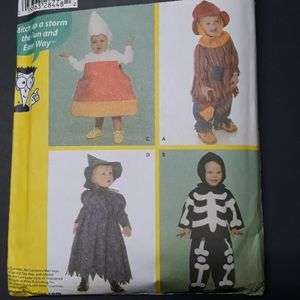 Sewing Pattern Toddler Costumes